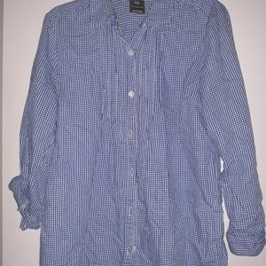 Button down gingham top